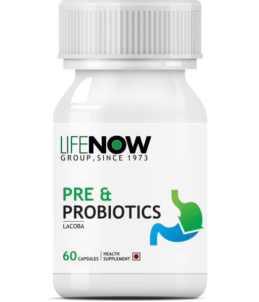 Lifenow Prebiotics and Probiotics - 60 Capsules - NutraC - Health & Nutrition Store