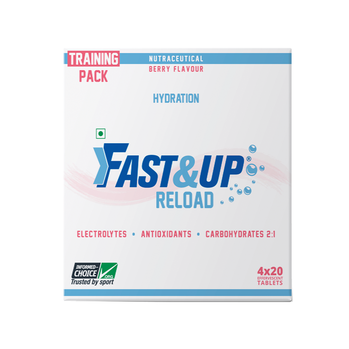 Fast&Up Reload Electrolytes Energy Drink and Instant Hydration Sports Drink - 80 Effervescent Tablets - Berry Flavour