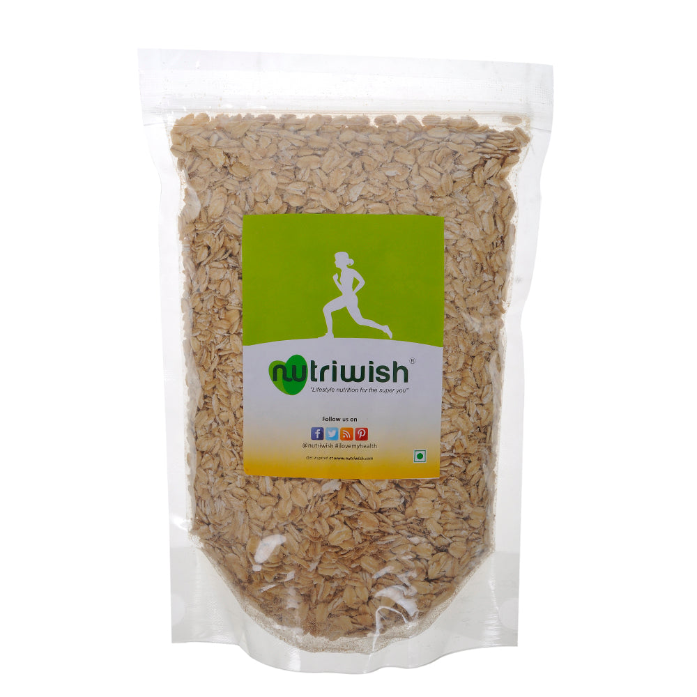 Nutriwish Premium Gluten-Free Rolled Oats 1kg - NutraC - Health & Nutrition Store