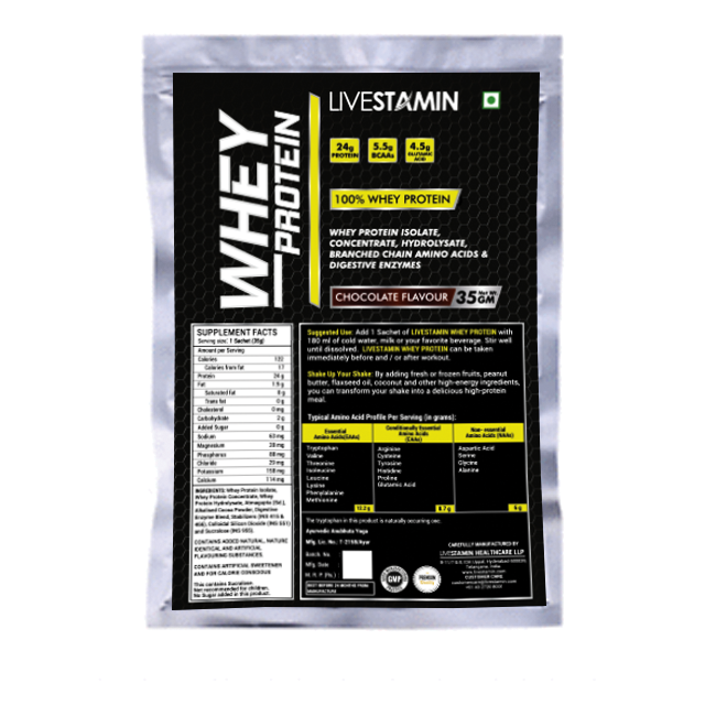 Livestamin Whey protein 30 Sachets - NutraC - Health & Nutrition Store