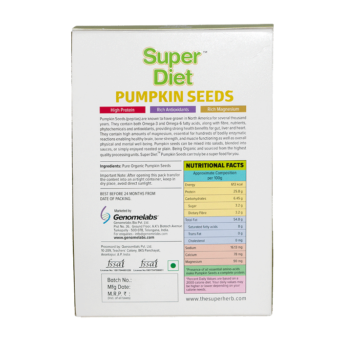 Super Diet Pumpkin Seeds 200 Grms - NutraC - Health & Nutrition Store