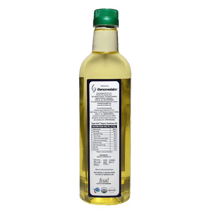 Super Diet Sunflower oil 1000ml - NutraC - Health & Nutrition Store