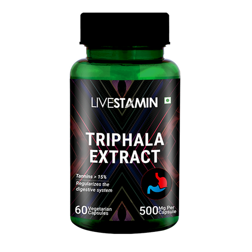 Livestamin Triphala Extract 60 Capsules - NutraC - Health & Nutrition Store