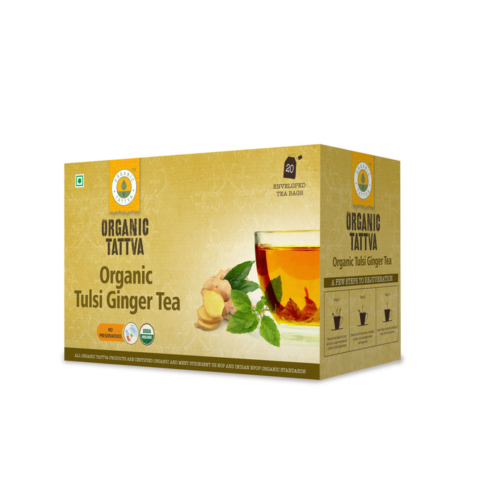 Organic Tattva Tulsi Ginger Tea (20 teabags)