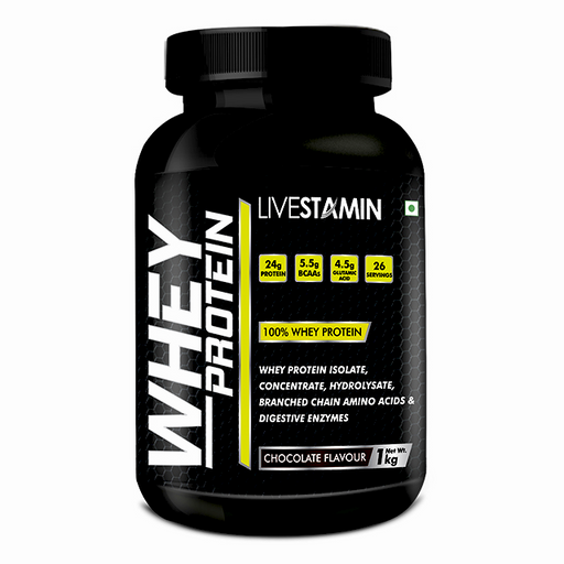 Livestamin Whey Protein Chocolate 1 Kg - NutraC - Health & Nutrition Store