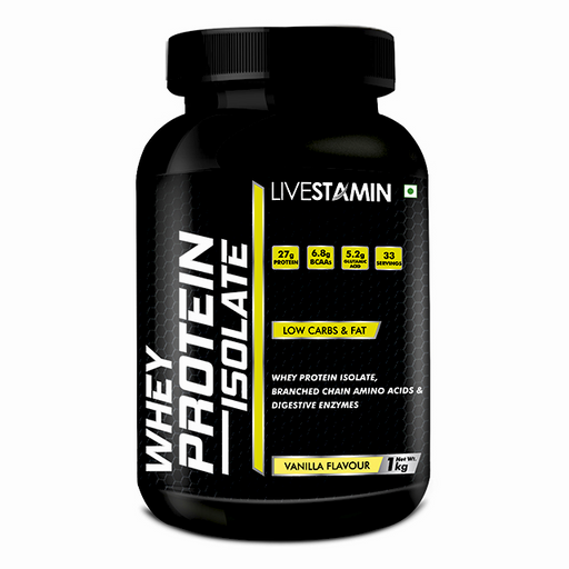 Livestamin Whey Protein Isolate 1 kg Chocklate Flavour - NutraC - Health & Nutrition Store