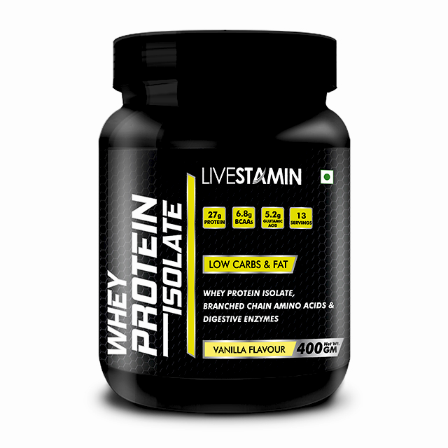 Livestamin Whey Protein Isolate 400 grams Chocklate Flavour - NutraC - Health & Nutrition Store