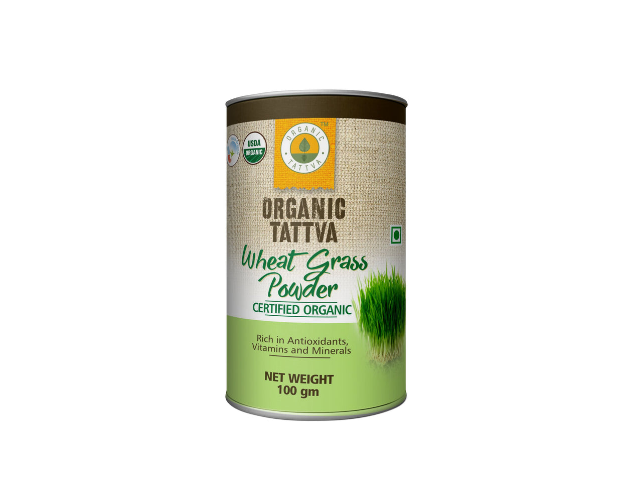 Organic Tattva Wheat Grass Powder - NutraC - Health & Nutrition Store