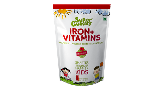 Super Gummy Iron + Vitamins - 30 Chewable Supplements for Kids
