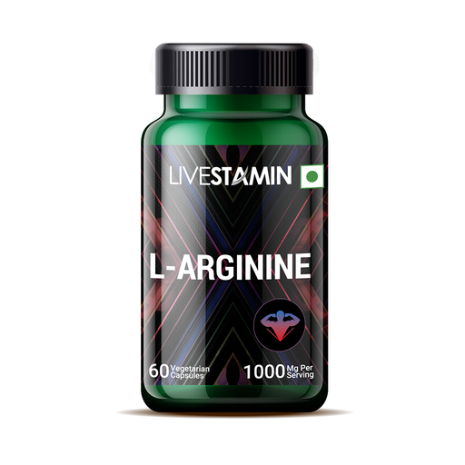 Livestamin L- Arginine 1000 mg 60 Capsules - NutraC - Health & Nutrition Store