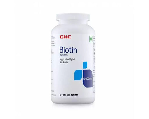 GNC Biotin 10,000 mcg Supports Healthy Hair, Skin & Nails - 90 Tablets - NutraC - Health & Nutrition Store