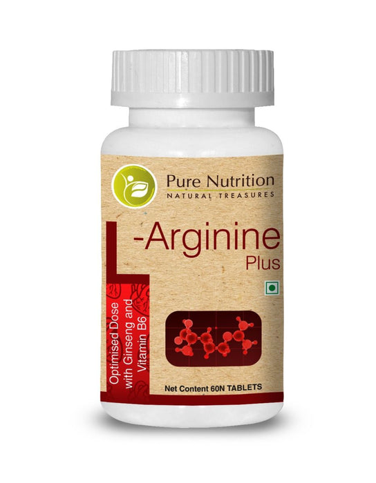 Pure Nutrition L-arginine 60 Tablets - NutraC - Health & Nutrition Store