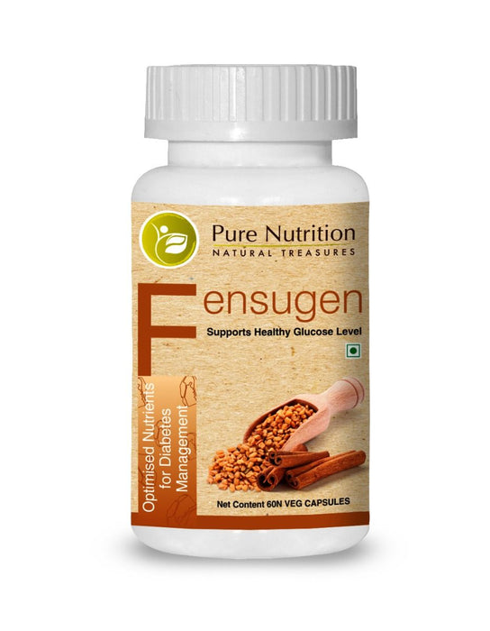 Pure Nutrition Fensugen (For Diabetic Management) 60 capsules - NutraC - Health & Nutrition Store