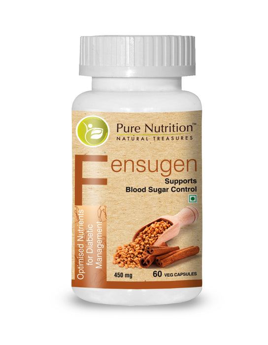 Pure Nutrition Fensugen 450mg Fenugreek Supplement- 60 Capsules - NutraC - Health & Nutrition Store