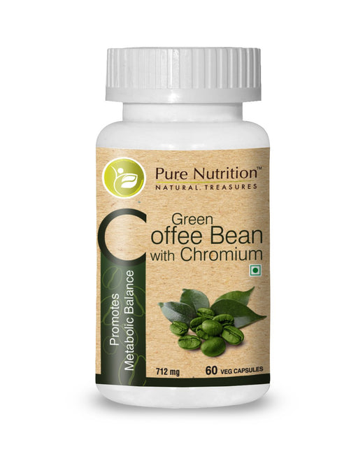 Pure Nutrition Green Coffee Bean With Chromium (Promotes Metabolic Balance) - 60 Capsules