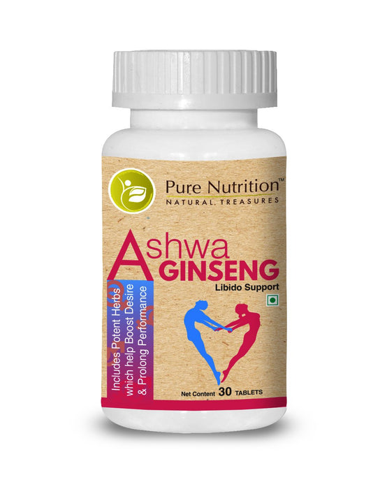 Pure Nutrition Ashwa Ginseng Enhances sexual desire and stamina for both men and women - NutraC - Health & Nutrition Store