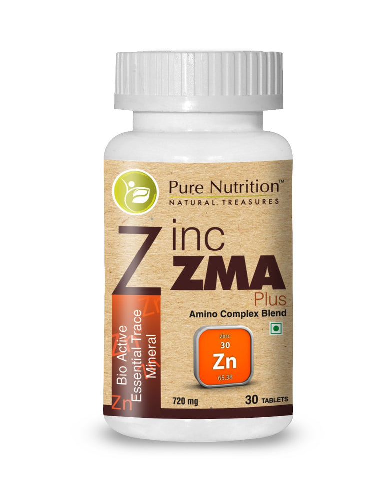 Pure Nutrition Zinc ZMA Plus Bio Active Essential Trace Minerals - 30 Capsules - NutraC - Health & Nutrition Store