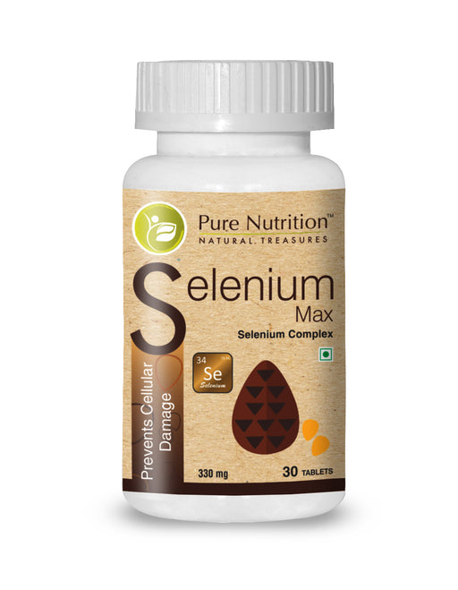 Pure Nutrition Selenium Max (Prevents Cellular Damage) - 30 Capsules - NutraC - Health & Nutrition Store
