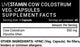 Livestamin Cow Coloustrum 60 Capsules - NutraC - Health & Nutrition Store