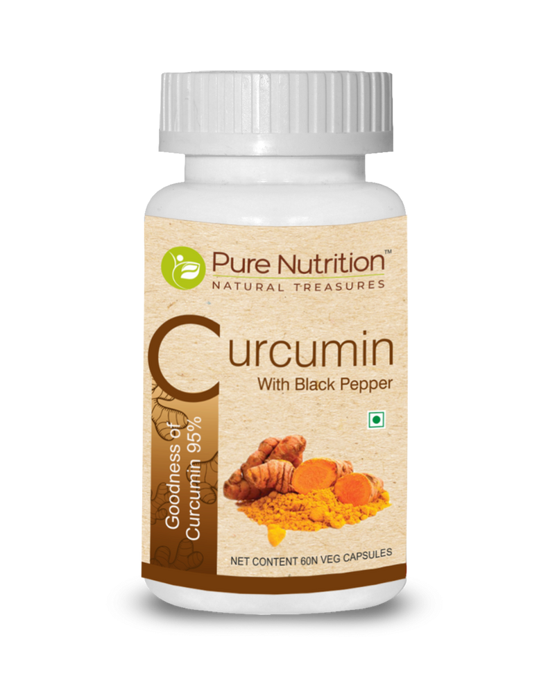 Pure Nutrition Curcumin with Black Pepper - 60 Capsules - NutraC - Health & Nutrition Store