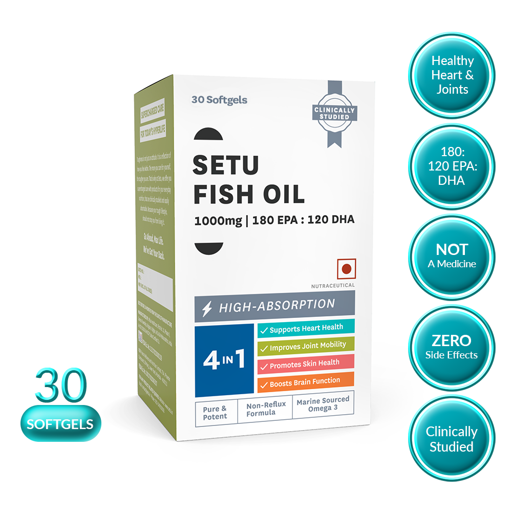 Setu Fish Oil - 30 Softgels - NutraC - Health & Nutrition Store