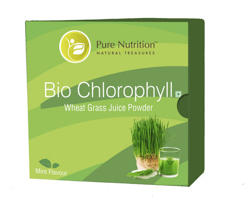 Pure Nutrition Biochlorophyll - Wheat Grass Extract Powder- 15 Sachet