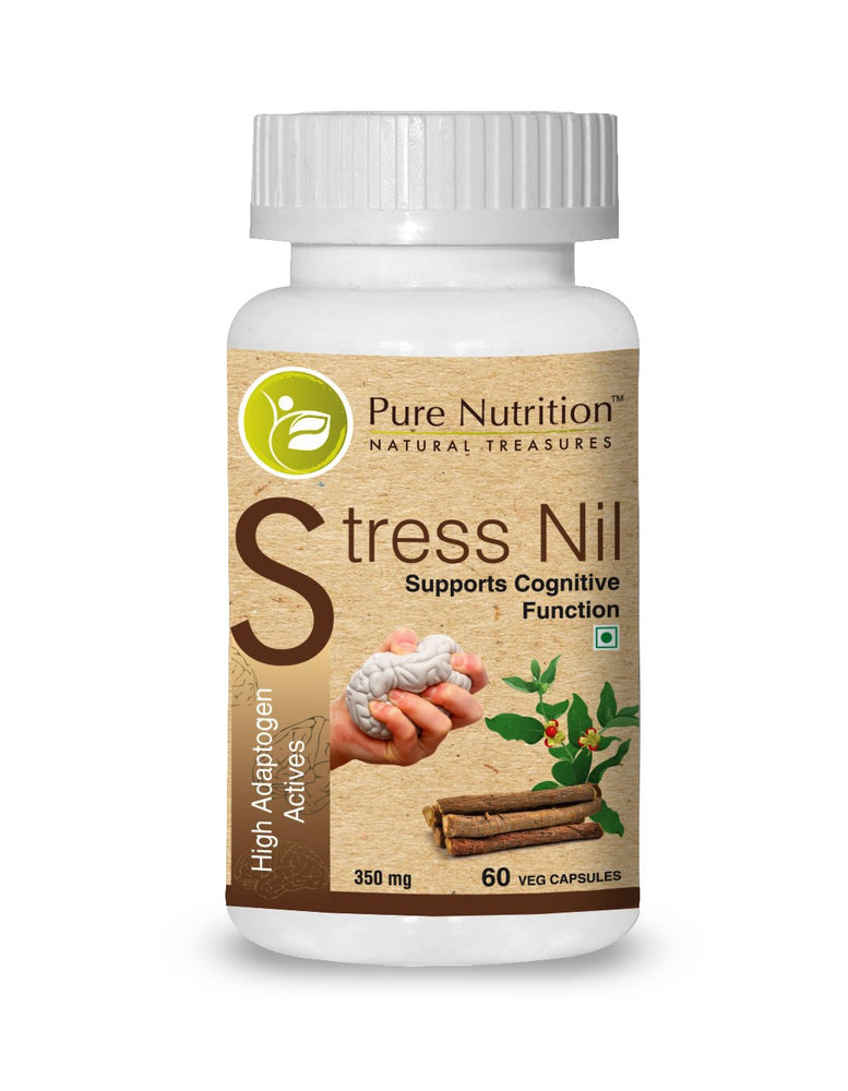 Pure Nutrition Stress Nil (Higher Adptogen Activities) - 90 Capsules - NutraC - Health & Nutrition Store