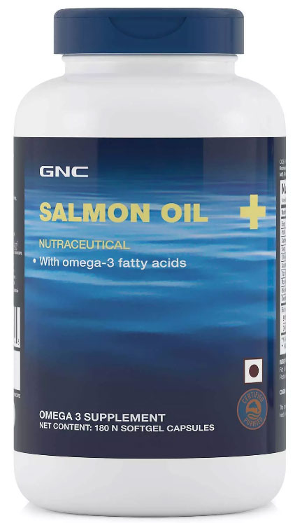 GNC SALMON OIL 1000 MG, 180 SOFTGELS - NutraC - Health & Nutrition Store