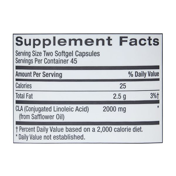 GNC Total Lean CLA for Weight Loss (90 Softgel Capsules) - NutraC - Health & Nutrition Store