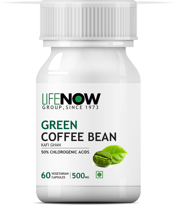 Lifenow Green Coffee Bean Extract (50% Chlorogenic Acid) 800mg per Serving, 60 Vegetarian Capsules