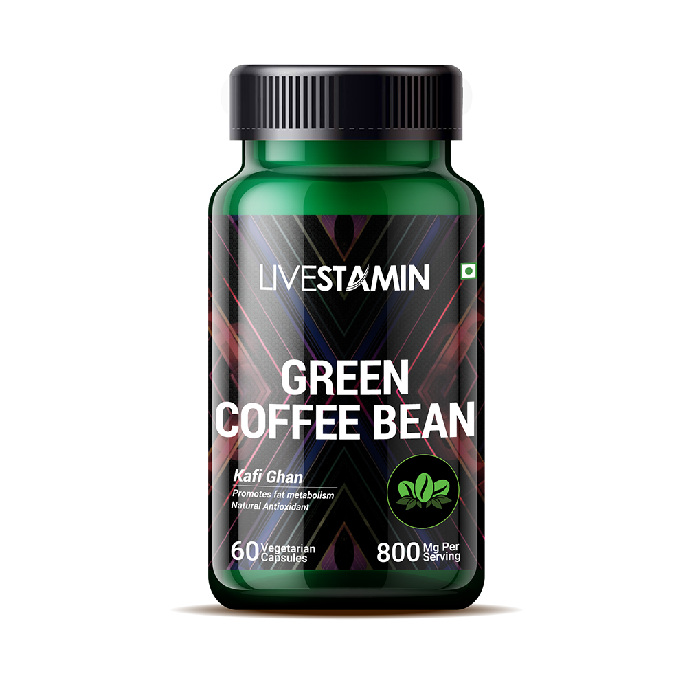 Livestamin Green Coffee Bean 60 Capsules - NutraC - Health & Nutrition Store