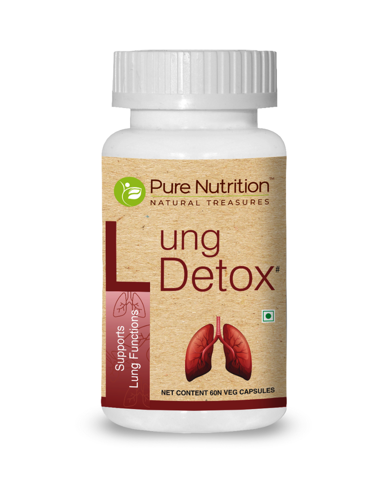 Pure Nutrition Lung Detox 60 Veg Capsules - NutraC - Health & Nutrition Store