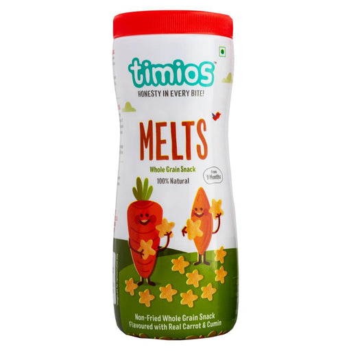 Timios Melts Carrot Cumin 50 gm - NutraC - Health & Nutrition Store