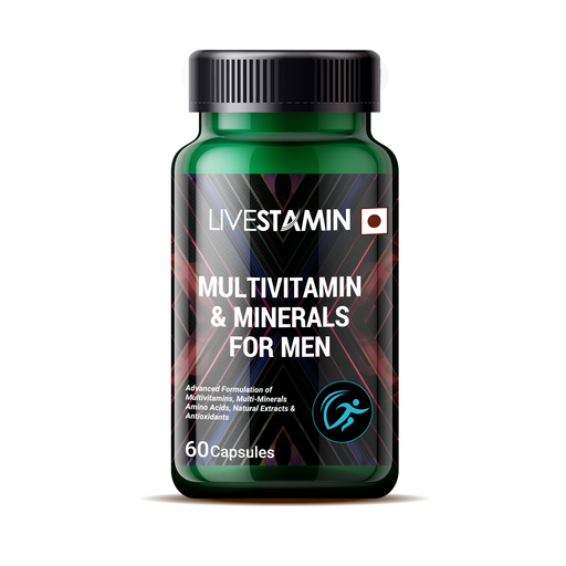 Livestamin Multivitamin and Minerals for men 60 Capsules - NutraC - Health & Nutrition Store
