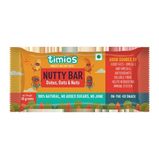 Timios Nutty Bars 30 g -Pack of 3 (30g x 3) - NutraC - Health & Nutrition Store
