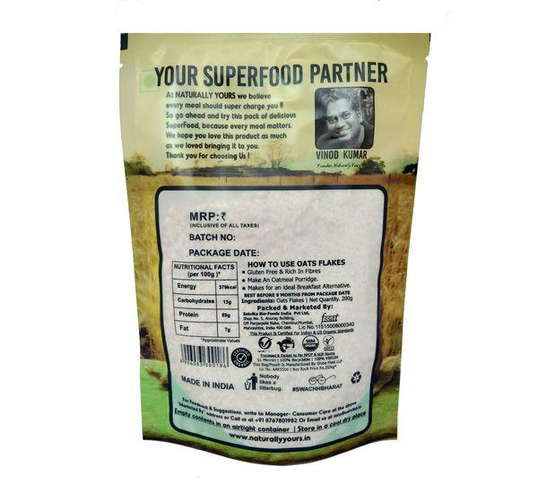Naturally Yours Organic Rolled Oats - 500g - NutraC - Health & Nutrition Store