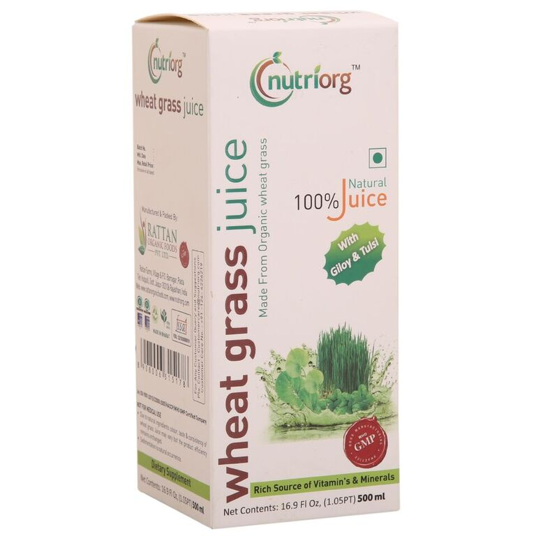 Nutriorg Wheatgrass Juice 500ml - NutraC - Health & Nutrition Store