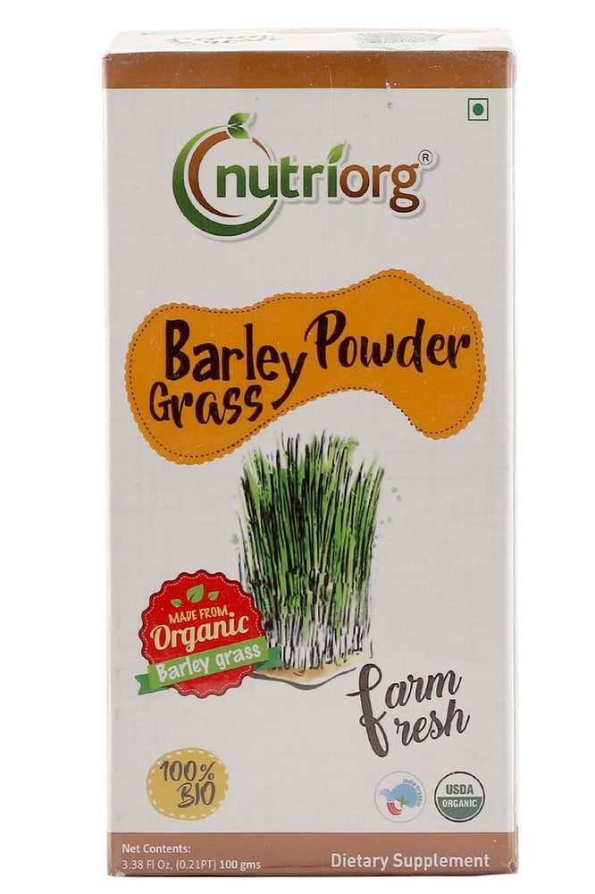 Nutriorg Certified organic Barley Powder 100gm - NutraC - Health & Nutrition Store