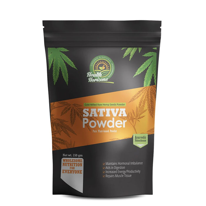 Health Horizons Ayurvedic Sativa Hemp Powder 150gm - NutraC - Health & Nutrition Store