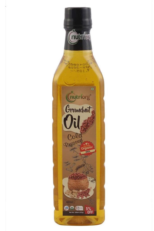 Nutriorg Certified organic Groundnut Oil 500ml - NutraC - Health & Nutrition Store