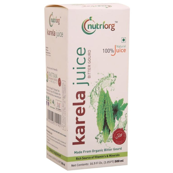 Nutriorg Karela Juice 500ml - NutraC - Health & Nutrition Store