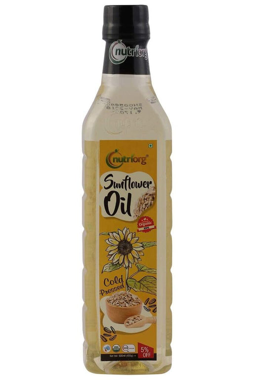 Nutriorg Certified organic Sunflower Oil 500ml - NutraC - Health & Nutrition Store