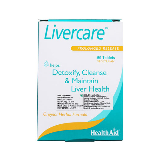 HealthAid Livercare (Prolonged Release) -60 Tablets - NutraC - Health & Nutrition Store