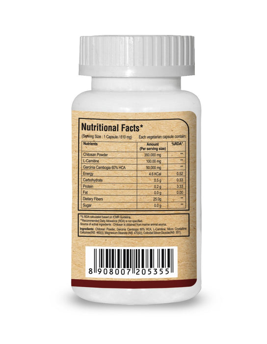 Pure Nutrition Chitomax (Fat Blocker) - 60 Capsules - NutraC - Health & Nutrition Store