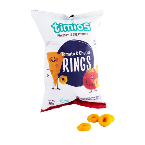 Timios Tomato and cheese rings 50 gm -Pack of 3 (50g x 3) - NutraC - Health & Nutrition Store