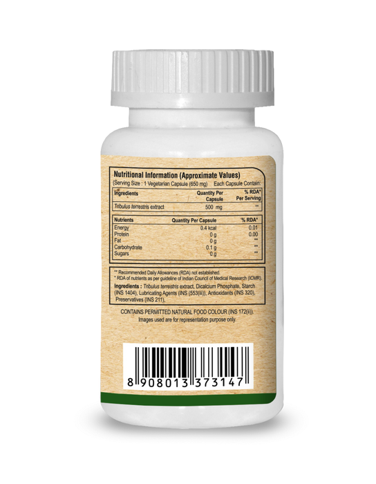 Pure Nutrition Tribulus a Natural Vitality Booster 60N Capsule - NutraC - Health & Nutrition Store