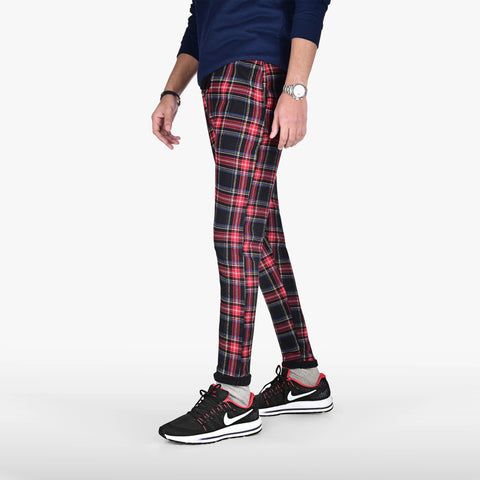 Rustic Plaid Jogger Trouser