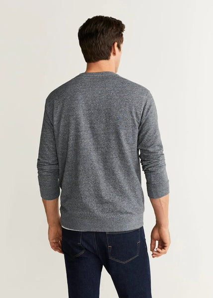 "Flecked Cotton-Blend Sweatshirt ""Medium Heather Grey"""