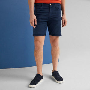"'Slim Fit' Stretch Bermuda Short ""Blue Steel"""