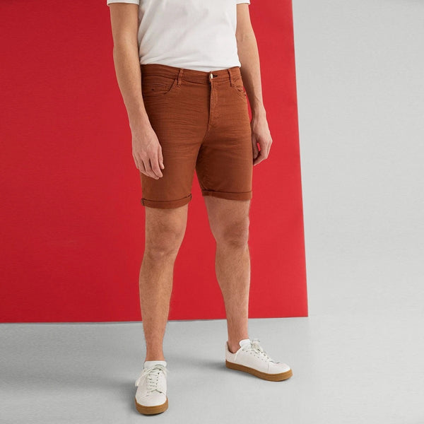 "'Slim Fit' Stretch Bermuda Short ""Brown"""